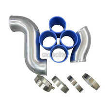 """CXRacing 2.75"""" Stock Intercooler Piping Kit Only For Mazda RX7 RX-7 FD FD3S Blue"""