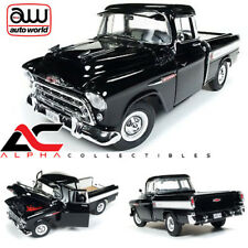 AUTOWORLD AMM1145 1:18 1957 CHEVROLET CAMEO 3124 PICKUP TRUCK BLACK
