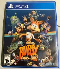 Bubsy: Paws on Fire PlayStation 4 PS4 Rare Game And Case Look