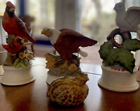 ATTENTION BIRD LOVERS!! Collection Of Four Unique Bird Sculptures, Hand Painted
