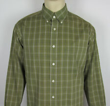 Roundtree & Yorke Classics long sleeve button front dress shirt Mens Size L