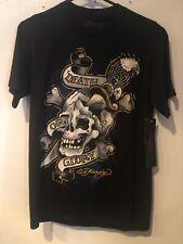 Ed Hardy Death or Glory Skull Dagger Eagle T-Shirt Small
