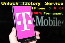Iphone Factory Unlock service 100% T-MOBILE 6 6+ 5 FAST PERMANENT I-PHONE CODE
