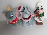Disney Store DUMBO GOOFY Gift Babies First Christmas '08 & '99 Plush Lot of 3