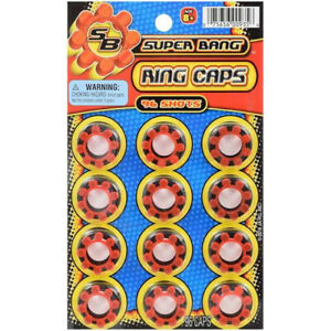 New SUPER BANG REPLACEMENT RING CAPS 96 COUNT