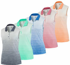 Puma Women's Sleeveless Ombre Polo Ladies Golf Shirt 595830 New - Choose Color!