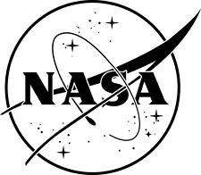 NASA logo black or white vinyl  sticker for cars or laptops