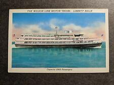 WILSON Line Motor Vessel MV LIBERTY BELLE, NY Naval Cover unused postcard