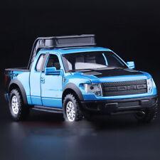 Blue 1:32 Ford F-150 SVT RAPTOR Pick Up Diecast Truck Sound Light 4-Doors Open