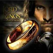 Gold Lord of the Rings Ring Sci Fi Films Movies Hobbit Fantasy Mens Wedding WOW