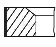 MAHLE ORIGINAL Piston Ring Kit 022 01 N2