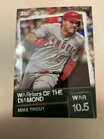 2020 Topps Series 2 Mike Trout WARriors Of The Diamond Card#WOD-19 SP#45/50