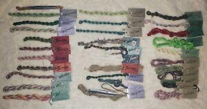 Lot Of 33 Caron Impressions, Watercolours, Waterlilies, Soie Cristale Wildflower