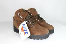 NOS Vintage 90s Hi Tec Mens Size 9.5 Suede Leather Outdoor Hiking Boots Brown
