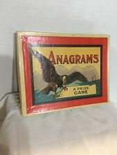 "Rare, Vintage Eagle Box  ""Anagrams Game"" by Milton Bradley"