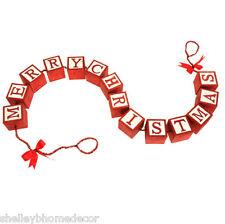RAZ Merry Christmas Block Garland Night Before nb 3416114 NEW RAZ