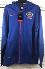 FLORIDA GATORS Nike KO Sideline Full Zip Hoodie JACKET Blue Orange Men's Size XL