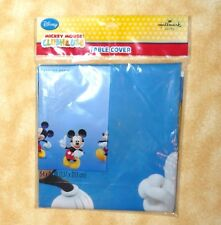 NEW disney mickey mouse plastic table cover 54 x 84 hallmark