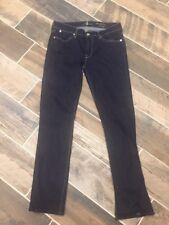 Women's 7 For All Mankind Modern Straight Dark Wash Blue Jeans 30x28