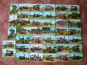 40 Mainly Unused Postcards of STEAM / TRACTION / SHOWMANS ENGINES. Standard size