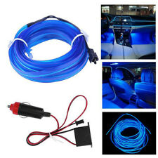Blue LED Car Interior Decorative Atmosphere Wire Strip Light Lamp Accessories 2m