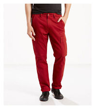 Levi's 541 Red Athletic Fit Cargo Chino Trousers New With Tags W42 L30