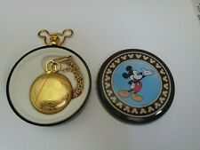 Mickey Mouse Unlimited Pocket Watch With Tin Verichron Quartz