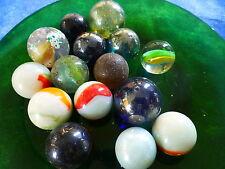 15 grosses bil billes en verre pour jouer ou création = jolis coloris