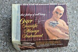 Vintage Oster Scientific Massage Instrument With Original Box Model 1-01