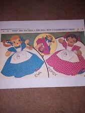 Topsy & Evva Doll Pattern 50's vintage upside down doll