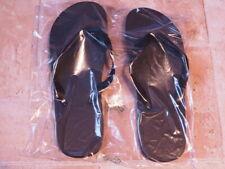 Badeschlapfen Kunststoff 28 cm schwarz ungebraucht