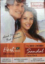 HESH SANDAL FACE PACK POWDER 100g HERBAL AYURVEDIC FOR MEN & WOMEN - UK SELLER