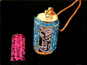 Betsey Johnson Crystal Cans Pendants Sweater chain Long necklace