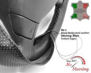 For Nissan Primastar 01-12 Black Perf Steering Wheel Cover 12 STITC