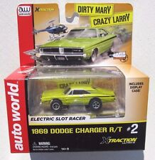 AUTO WORLD SILVER SCREEN 1969 DODGE CHARGER R/T DIRTY MARY CRAZY LARRY SLOT CAR