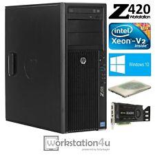 HP Z420 Workstation e5-1650v2 RAM 16gb Quadro K4000 SSD 256gb HDD 1tb W10