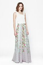 FRENCH CONNECTION Maxi Skirt -Desert Tropicana Chiffon,ICE COOLER SZ 6 ( UK 10 )