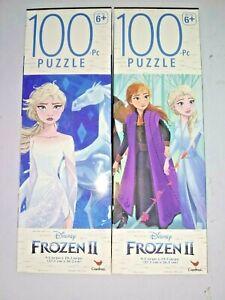 "(2) 100 Piece Jigsaw Puzzles - Disney Frozen 2 - Anna and Elsa 9.1"" x 10.3"""