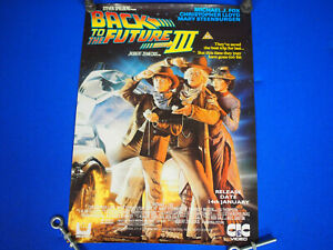 """Original Back To The Future 3 Movie UK Video Launch 1991 Poster 24"""" X 17"""""""