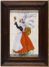 Guy LE DELEZIR  XXème siècle - '' Costume de Courseulles sur Mer '' - 1850 -