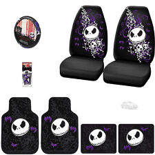 JACK SKELLINGTON 8PC NIGHTMARE BEFORE CHRISTMAS CAR SEAT COVER SET FOR TOYOTA