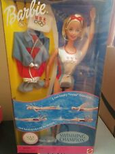 Barbie Swimming Champion Us Olympic Team Doll 1999 #24590 ~See details