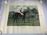 Vintage Horse Racing Artwork Portrait Painting Iroquois Derby Stakes Epson 1881