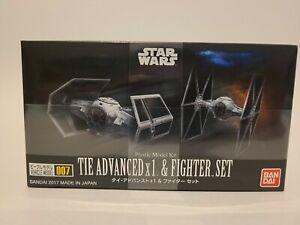 Bandai Star Wars Vehicle Model 007 Tie Advanced x1 & Fighter Set kit