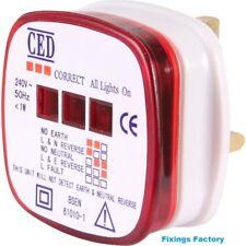 Mains Plug in ring main Socket Tester- UK 240V -  wiring / faulty detect FFRMT