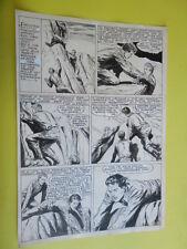 "SERGIO TARQUINIO-tavola originale FIRMATA pagina-4   -""3 Storie Avventurose""1954"