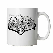 Metro 6R4 Rally Car Mug - Gift for Him Dad, Fathers Day, Birthday