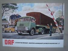 DAF  Leichtgewicht-Doppelachsauflieger  Baureihe LT  brochure/Prospekt   1962.