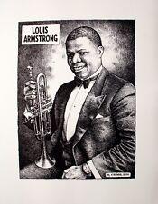 Robert Crumb - Louis Armstrong JAZZ POSTER [B&W Print]