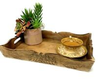 Rustic Solid wood distressed vintage farmhouse Tray Serving tray with handles